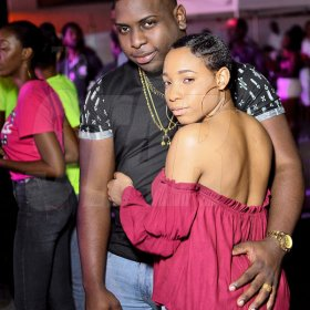 Anthony Minott/ Freelance PhotographerAdrian Williams, promoter of Smirnoff 90's Recall gets close up with a female patron *** Local Caption *** Anthony Minott/ Freelance PhotographerAdrian Williams, promoter of Smirnoff 90's Recall gets close up with a female patron