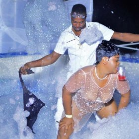 Anthony Minott/Freelance Photographer Scenes during Blackout Boss Bikini Foam Party at Gemini Club, Gateway Plaza, Old Harbour last Wednesday, August 15, 2018.