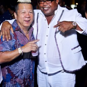 Anthony Minott   Long time friends Brian 'Ribbie' Chung (left), and Tommy 'Brite light' Thompson.