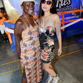 Rudolph Brown/ Photographer<\n>Jennifer 'Jenny Jenny' Small, (left) pose with Japanese artist pianist Akiko Moriyako at the semi final of the 2018 Charles Chocolates Dancin' Dynamites competition at the Jamaica College Auditorium in Kingston on Saturday May 12, 2018<\n><\n>