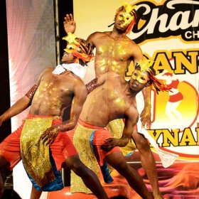 Rudolph Brown/ Photographer<\n>Unruly Skankaz Dancers show off their skill at the semi final of the 2018 Charles Chocolates Dancin' Dynamites competition at the Jamaica College Auditorium in Kingston on Saturday May 12, 2018<\n><\n>