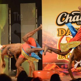 Rudolph Brown/ PhotographerUnruly Skankaz Dancers show off their skill at the semi final of the 2018 Charles Chocolates Dancin' Dynamites competition at the Jamaica College Auditorium in Kingston on Saturday May 12, 2018