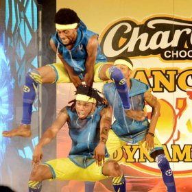 Rudolph Brown/ Photographer<\n>Street Team Dancers show off their skill at the semi final of the 2018 Charles Chocolates Dancin' Dynamites competition at the Jamaica College Auditorium in Kingston on Saturday May 12, 2018<\n><\n>