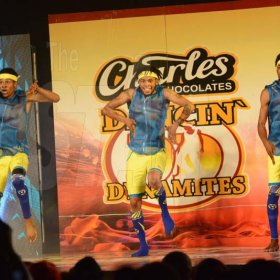 Rudolph Brown/ PhotographerStreet Team Dancers show off their skill at the semi final of the 2018 Charles Chocolates Dancin' Dynamites competition at the Jamaica College Auditorium in Kingston on Saturday May 12, 2018