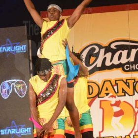 Rudolph Brown/ PhotographerNew Era Team Dancers show off their skill at the semi final of the 2018 Charles Chocolates Dancin' Dynamites competition at the Jamaica College Auditorium in Kingston on Saturday May 12, 2018