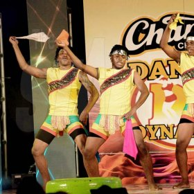 Rudolph Brown/ Photographer<\n>New Era Team Dancers show off their skill at the semi final of the 2018 Charles Chocolates Dancin' Dynamites competition at the Jamaica College Auditorium in Kingston on Saturday May 12, 2018<\n><\n>