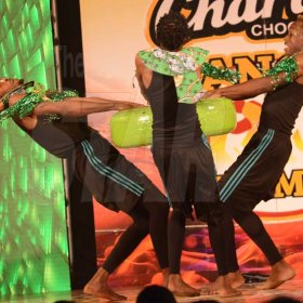 Rudolph Brown/ PhotographerCode X Skankaz Dancers show off their skill at the semi final of the 2018 Charles Chocolates Dancin' Dynamites competition at the Jamaica College Auditorium in Kingston on Saturday May 12, 2018