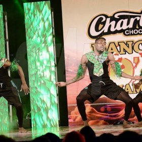 Rudolph Brown/ Photographer<\n>Code X Skankaz Dancers show off their skill at the semi final of the 2018 Charles Chocolates Dancin' Dynamites competition at the Jamaica College Auditorium in Kingston on Saturday May 12, 2018<\n><\n>