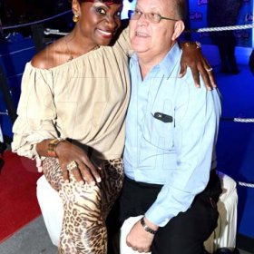 ContributedJenny Jenny and Larry Watson General Manager – Confectionery & Snacks Jamaica Ltd at Charles Chocolates Dancin' Dynamites 2018 Launch at Limelight Nightclub in Half Way Tree on January 6, 2018