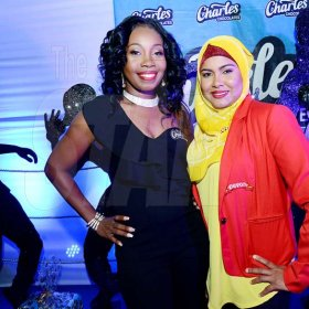 ContributedRoxanne Brown, (left) Brand Manager of Charles Chocolates pose with Zahrah Khan at Charles Chocolates Dancin' Dynamites 2018 Launch at Limelight Nightclub in Half Way Tree on January 6, 2018