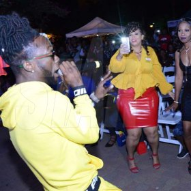 Rudolph Brown/PhotographerStylo G, British artist perform at the Charles Chocolates Dancin' Dynamites 2019 Launch at Emancipation Park on Saturday January 5, 2018