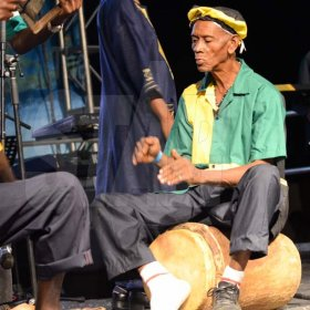Shorn Hector/Photographer  Members of the Port Morant Kumina Group perfoming at the Seville Emancipation Jubilee 2018