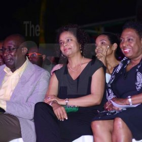 Shorn Hector/Photographer  From left, Minister of Education Ruel Reid, Attorney General, Marlene Malahoo Forte and Minister of Culture, Gender, Entertainment and Sport, Olivia Grange at the Seville Emancipation Jubilee 2018
