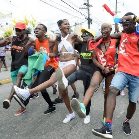 Jermaine Barnaby/Freelance PhotographerRevellers at Jamaica carnival road march on Sunday April 23, 2017.