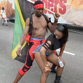 Jermaine Barnaby/Freelance Photographer Revellers at Jamaica carnival road march on Sunday April 23, 2017.