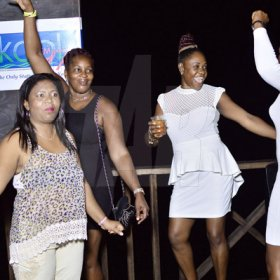 Anthiny MinttFreelance PhotographerA group of ladies enjoy themselves at Krazy Kris' birtday party at Jewels' Port Henderson Road, Portmore, on Saturday.