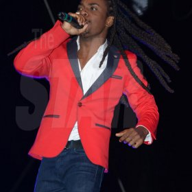 Jermaine Barnaby/Freelance Photographer Jahmiel perfomn at the Magnum live concert held at Sabina Park on Saturday January 7, 2017.