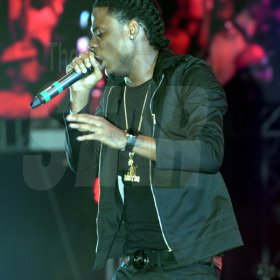 Jermaine Barnaby/Freelance Photographer Masika performing at the Magnum live concert held at Sabina Park on Saturday January 7, 2017.