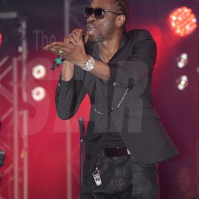 Jermaine Barnaby/Freelance Photographer Bounty Killer performing at the Magnum live concert held at Sabina Park on Saturday January 7, 2017.