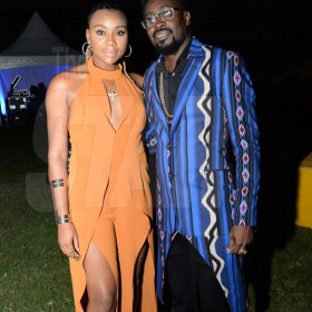 Jermaine Barnaby/Freelance Photographer Beenie Man and his boo Krystal Tomlisnon backsatge at the Magnum live concert held at Sabina Park on Saturday January 7, 2017.