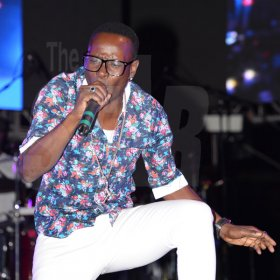 Jermaine Barnaby/Freelance Photographer Style X performing during Beenie man's set at the Magnum live concert held at Sabina Park on Saturday January 7, 2017.