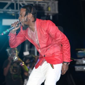Jermaine Barnaby/Freelance Photographer Capleton the fireman performing at the Magnum live concert held at Sabina Park on Saturday January 7, 2017.