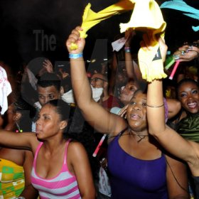 Winston Sill / Freelance Photographer Rag waving was a big part of the Pandemonium experience.          Party and Show,  The Carnival Experience, held at The Golf Academy, New Kingston on Friday night April 5, 2013.