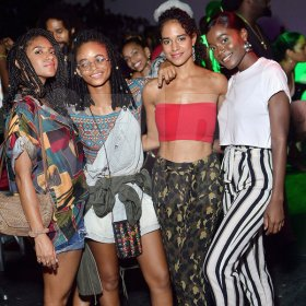 Anthony Minott From left: Naomi Cowan, Lila Ike, Solange Sinclair and Sevana out enjoying the party.