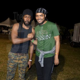 Janet Silvera Photo<\n>Producer and keyboard player with Stephen Marley, Riff Raff (left) poses with bass guitarist, Lamar 'Taddy P' Brown at Rebel Salute<\n><\n><\n><\n><\n><\n><\n><\n><\n><\n><\n><\n><\n><\n><\n><\n><\n>