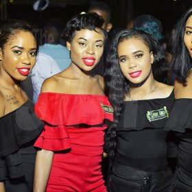 The Chrome Entertainment girls Anthony MiniottThe Chrome Entertainment girls were truly dashing at Romeich's birthday party, held on Saturday at Campbell's Boulevard, off Waltham Park Road.are truly dashing