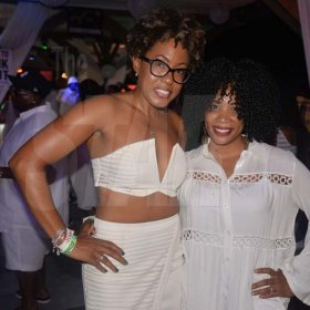 Stayce Ingram of Royalton White Sands and Chevaughne Miller of Hospiten Jamaica having fun