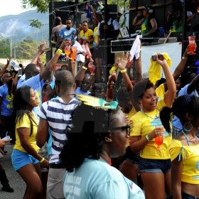 Winston Sill / Freelance Photographer UWI Carnival Road March, held on the Ring Road UWI, Mona on Saturday March 16, 2013.