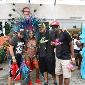 Ricardo Makyn/Multimedia Photo EditorThe main people behind Xaymaca at the Xaymaca Road March, Sunday, April 24, 2017, Kingston.