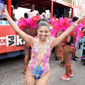 Contributed Marie Collette is pretty as peach having a grand time at Xodus road march.